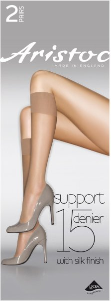 Aristoc Bodytoners 15D Medium Support Knee Highs - 2 Paar