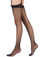 Pretty Polly Nylons 10D Gloss Stockings Black ML