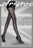 Aristoc Catwalk Trends Retro Diamond Tights Black ML