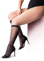 Pretty Polly Curves 15D Comfort Top Knee Highs - 2 Paar