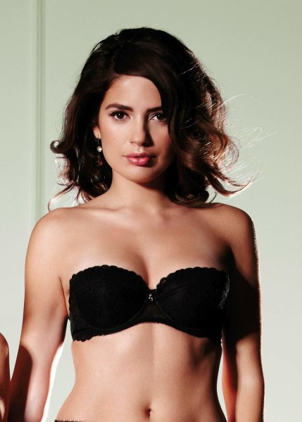 Gossard Lace Trägerloser Push-Up BH Black