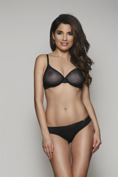 Gossard Glossies Wild Dotty Moulded BH Black