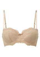 Gossard Lace Trägerloser Push-Up BH Nude 65 G