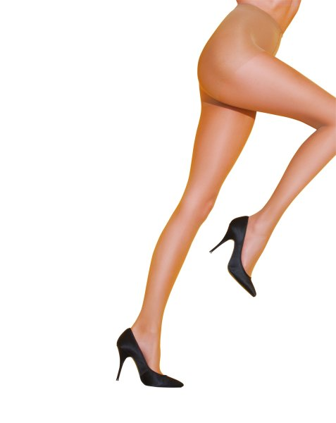 Pretty Polly Legs on the Go 10D Ladder Resist Compression Tights