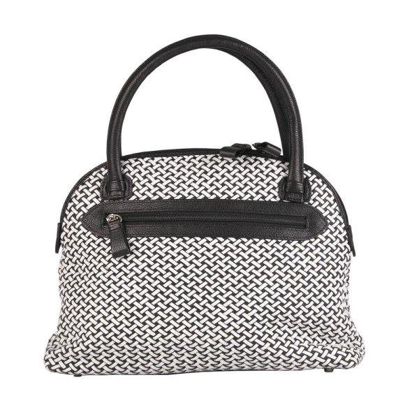 0ee57b20d48c0 Handtasche Sylvia schwarz weiß ...