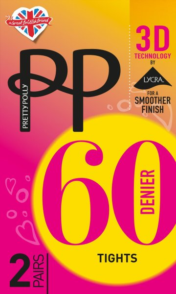 Pretty Polly 3D Opaques 60D 3D Opaque Tights 2 Paar