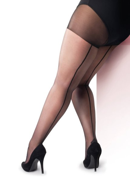 Pretty Polly Curves 10D Backseam Tights