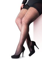 Pretty Polly Curves Pin Dot Tights Black XL