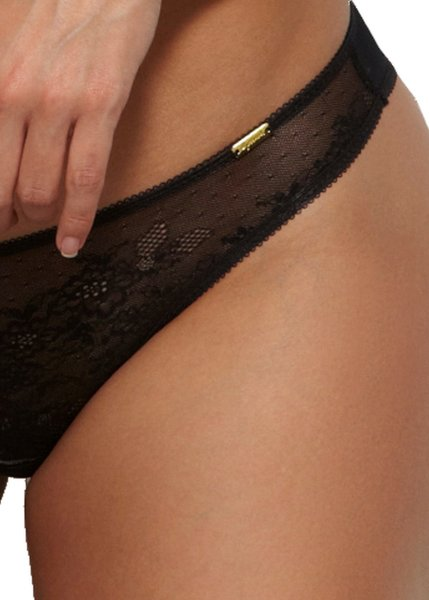 Gossard Glossies Lace String Black