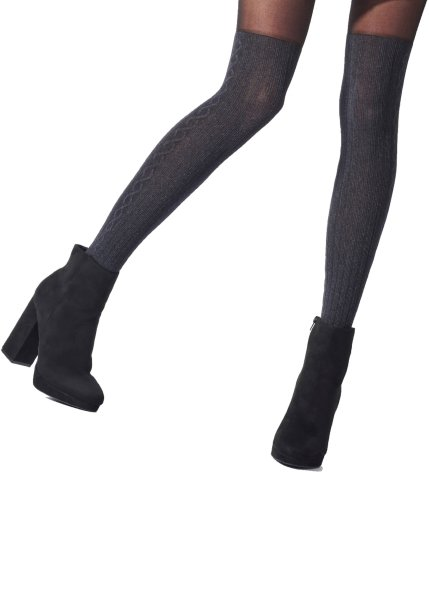 Pretty Polly Premium Fashion  Marl Overknee Sock Tights