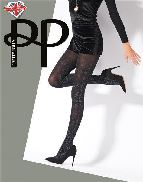 Pretty Polly Premium Fashion  Silver Print Tights