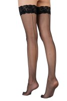 Pretty Polly Pretty Flirty Velvet Lace Backseam Hold Ups