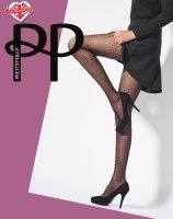 Pretty Polly Premium Fashion Spiral Dot Tight black One Size