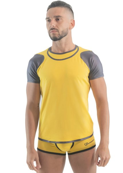 Geronimo Erotic Push or Zipp T-Shirt Yellow