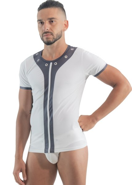 Geronimo Erotic Mission T-Shirt mit Nieten White