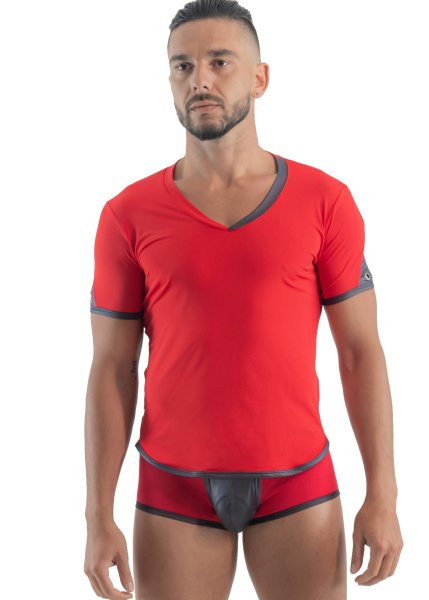 Geronimo Erotic Mission T-Shirt mit Niete Red