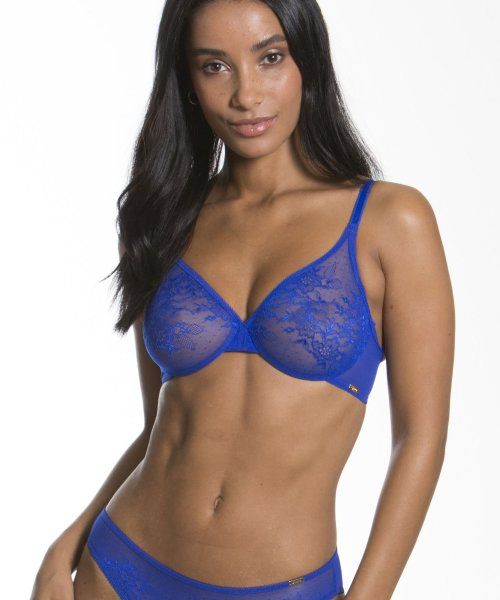 Gossard Glossies Lace Moulded BH Electric Blue