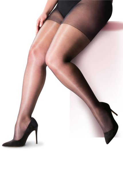 Pretty Polly Curves 10D Nylons Gloss Tights - 2 Paar