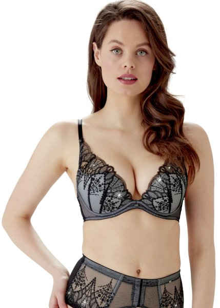 Gossard VIP Twilight Strumpfgürtel Black/Grey